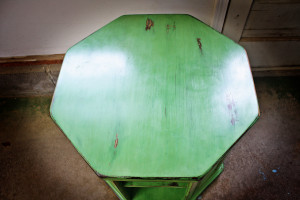 Green Table Top View